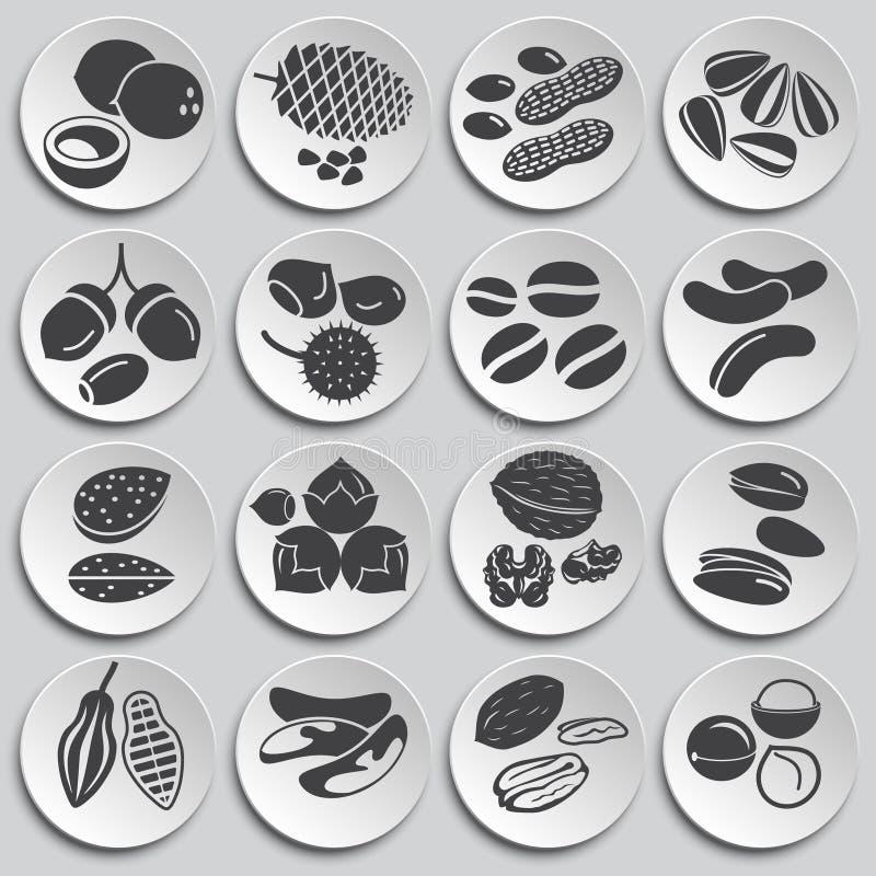 Noten verwante die pictogrammen op achtergrond voor grafisch en Webontwerp worden geplaatst Eenvoudige illustratie Internet-conce stock illustratie