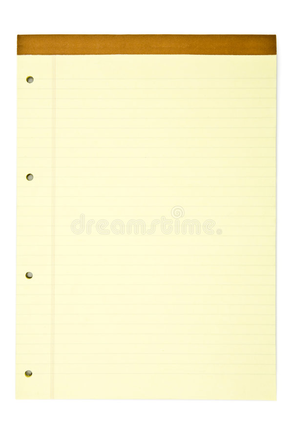 notepad żółty zdjęcia stock