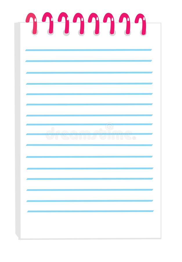Download Notepad stock vector. Image of clip, gray, object, sheet - 10103787