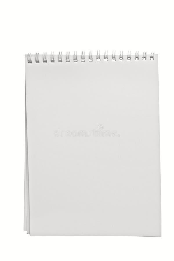 Notepad. Isolated on white background stock image