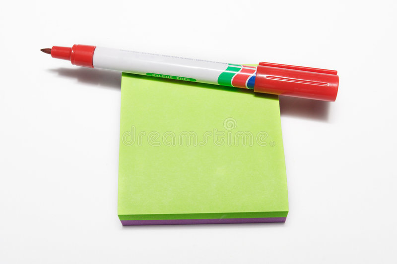 Download Notepad #2 stock photo. Image of green, notes, message - 110052