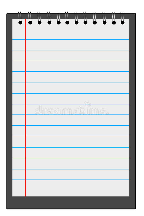 Download Notepad stock illustration. Illustration of notes, note - 24416953