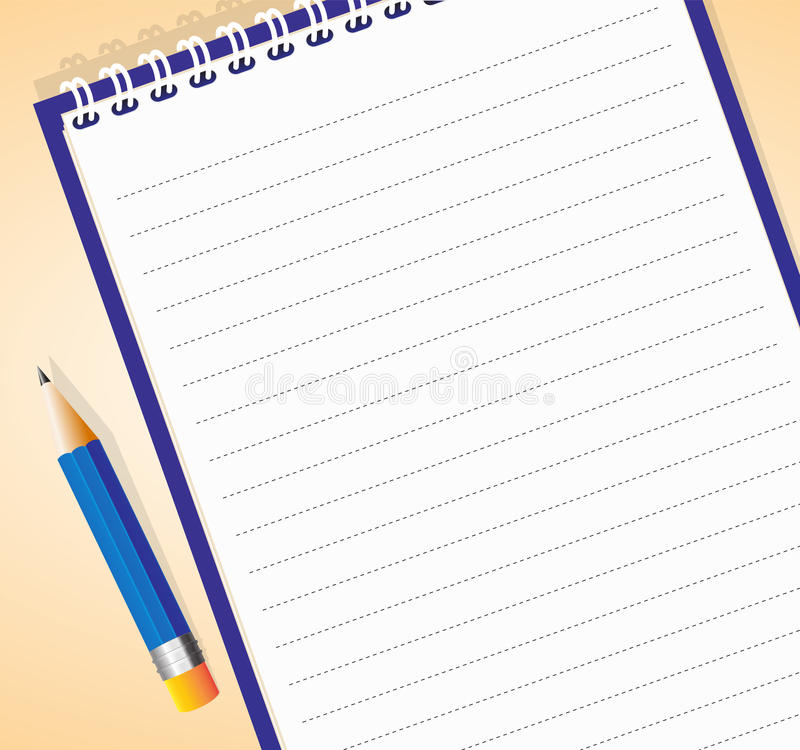 Notepad royalty free illustration