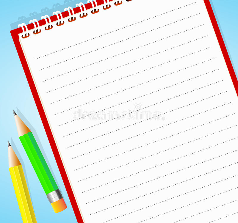 Notepad stock illustration