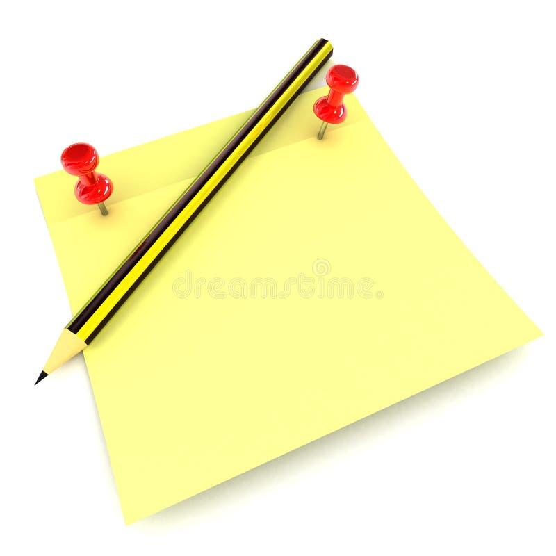 Download Notepad stock illustration. Illustration of blank, list - 28452399