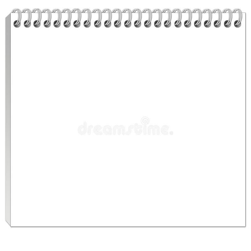 Notepad royalty free illustration