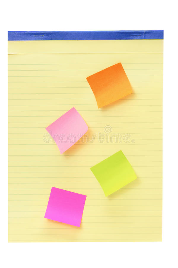 Notepad with Adhesive Note Paper royalty free stock photography