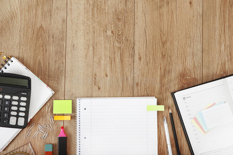 Notepad biurko zdjęcia stock