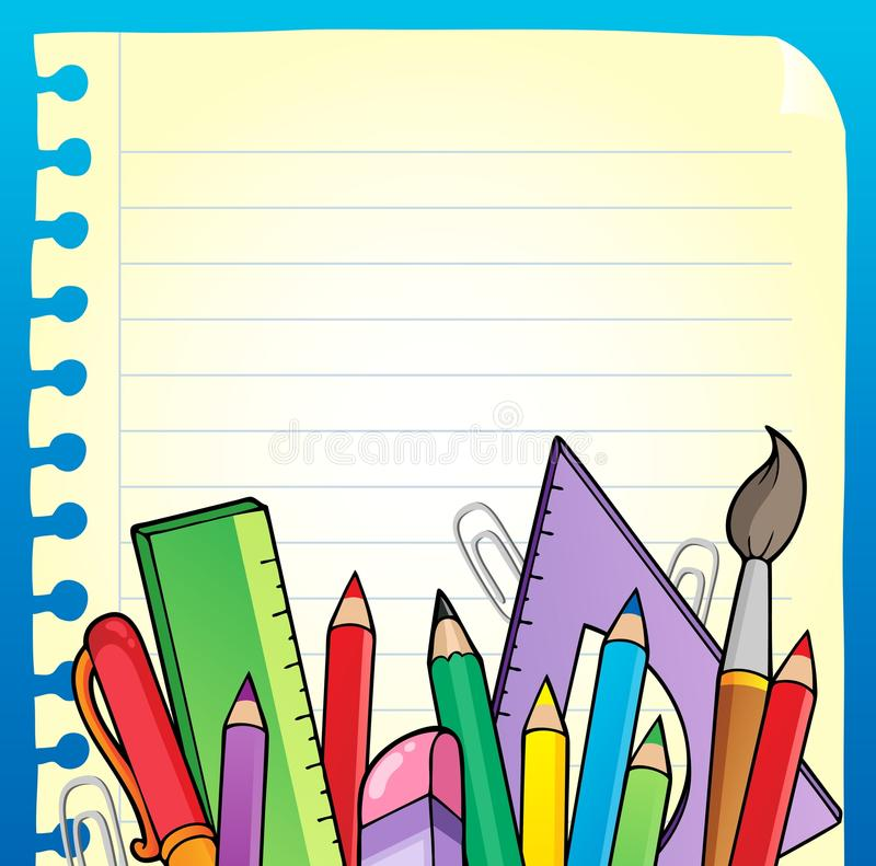 Download Notepad Blank Page And Stationery 2 Stock Photo - Image: 23258030