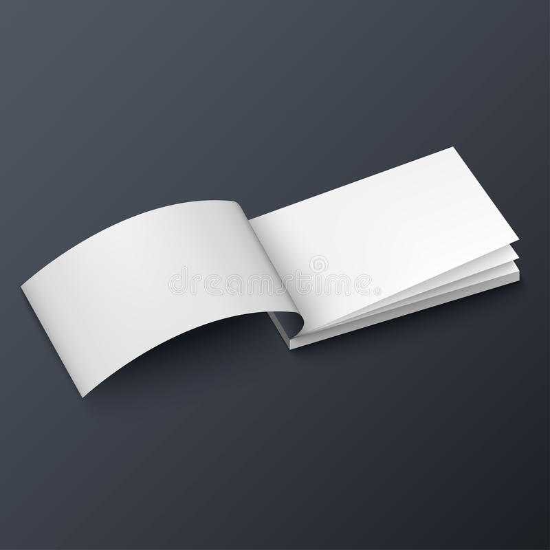 Notepad, Booklet, Business Card Or Brochure Mockup Template Stock ...
