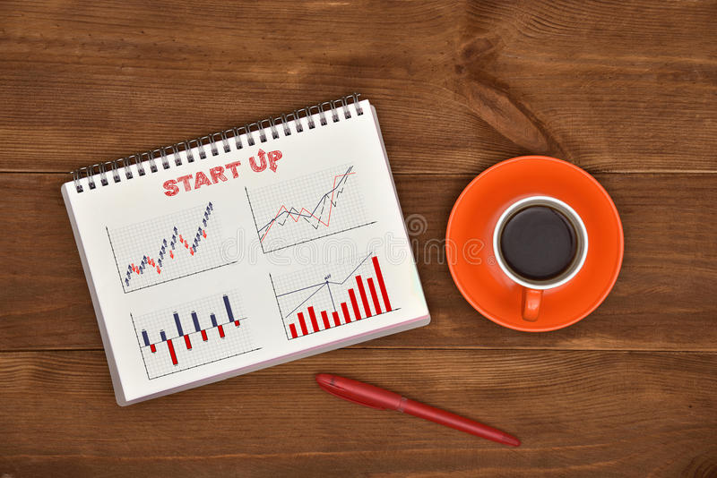 Download Notepad With Business Start Up Stock Photo - Image: 83703347