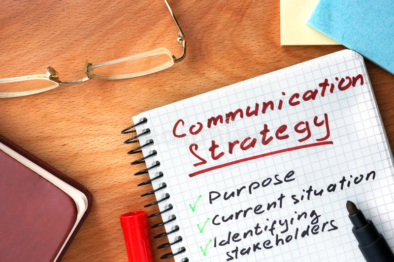 Notepad With Communication Strategy Concept Stock Image  Image Of