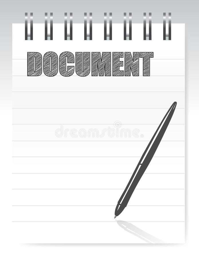 Download Notepad document stock illustration. Image of certify - 27745423