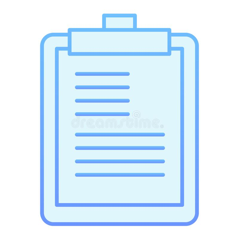 Notepad flat icon. Clipboard blue icons in trendy flat style. Scheduler gradient style design, designed for web and app. Eps 10 royalty free illustration
