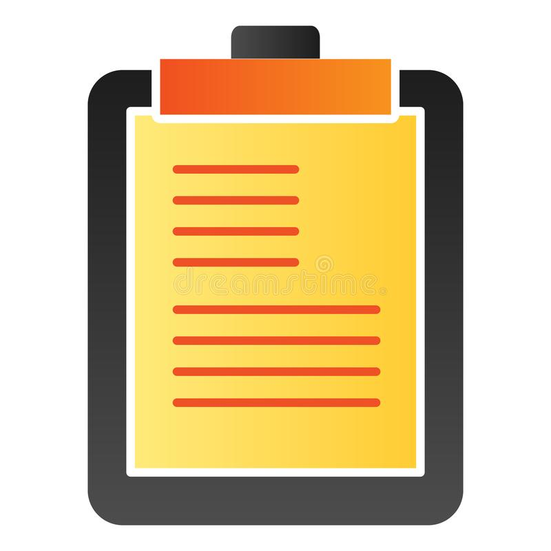 Notepad flat icon. Clipboard color icons in trendy flat style. Scheduler gradient style design, designed for web and app. Eps 10 vector illustration
