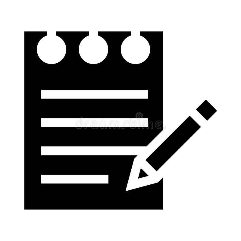 Notepad glyphs icon royalty free illustration