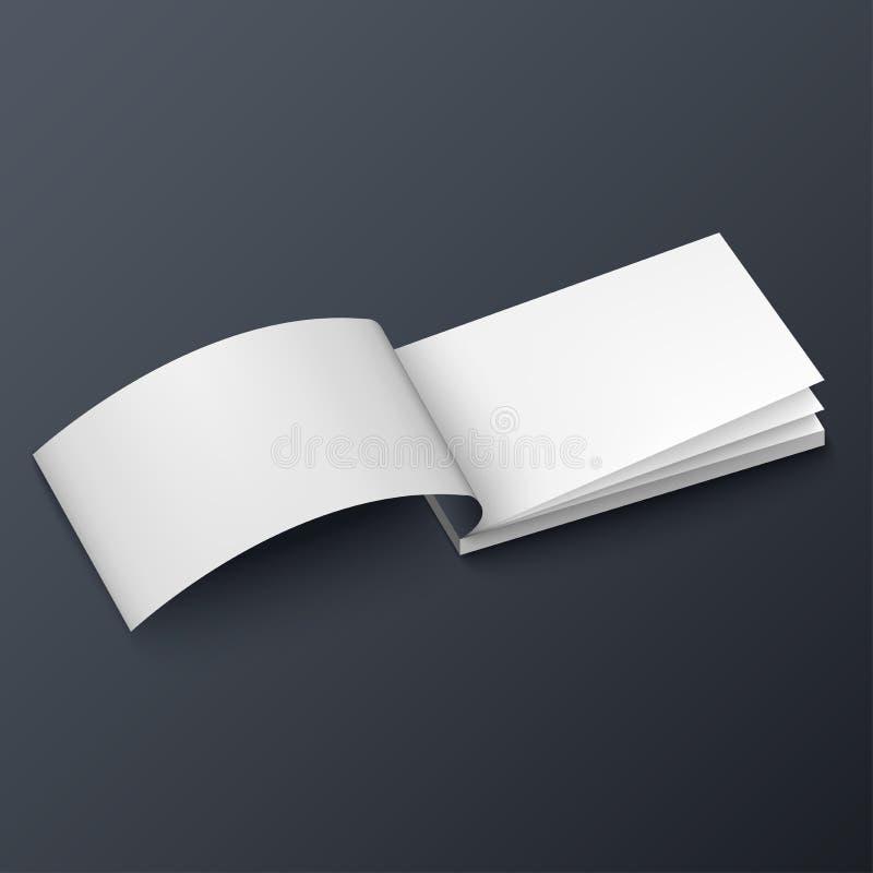 Notepad, häfte, affärskort eller broschyrmodellmall vektor illustrationer