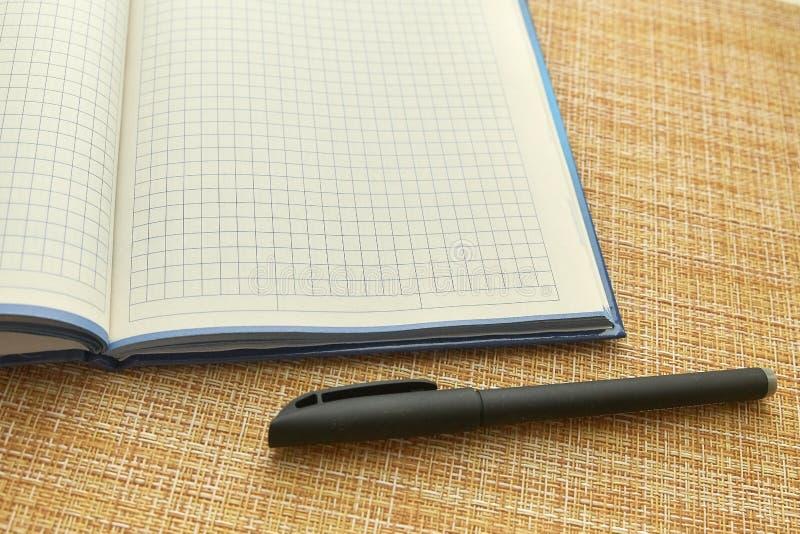 Notepad i pi?ro pusty arkusza papieru Biznes, biuro obrazy stock