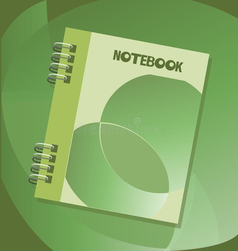 Notepad med våren symbol emblem stock illustrationer