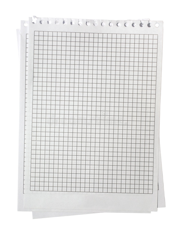 Download Graphed Note Paper Isolated On White Background Notepaper Graph Pages Torn Torned Page Checked Check Lined Texture Grid Pad Shot Stock Image - Image: 8335631