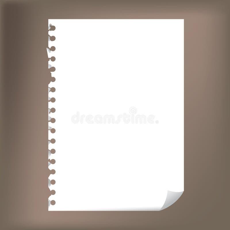 Notepad paper royalty free illustration