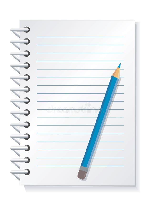 Notepad_pencil illustration de vecteur