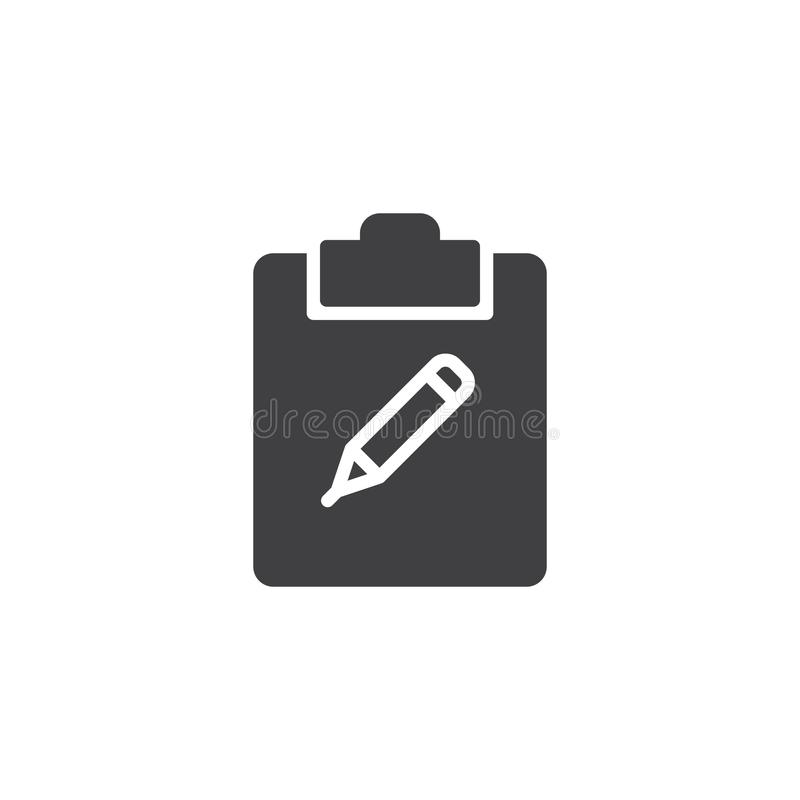 Notepad with pencil icon vector royalty free illustration