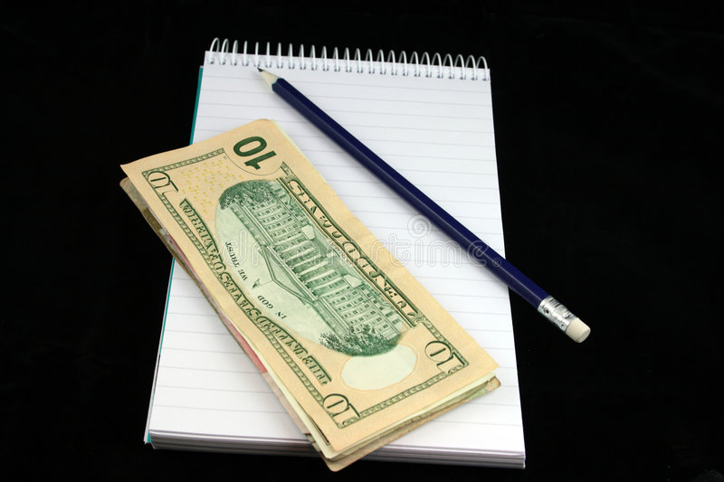 Download Notepad Pencil and Money stock image. Image of organize - 2205921