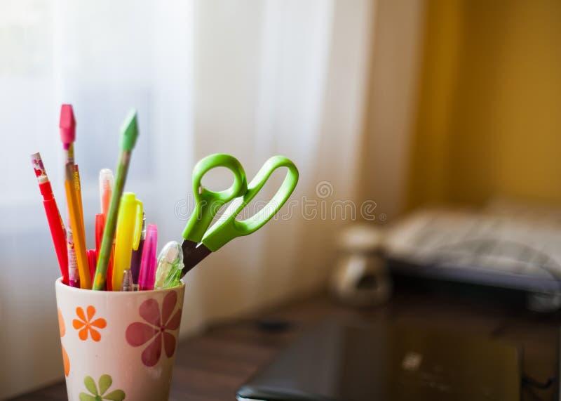 notepad pióro wytłaczać wzory writing zdjęcie stock