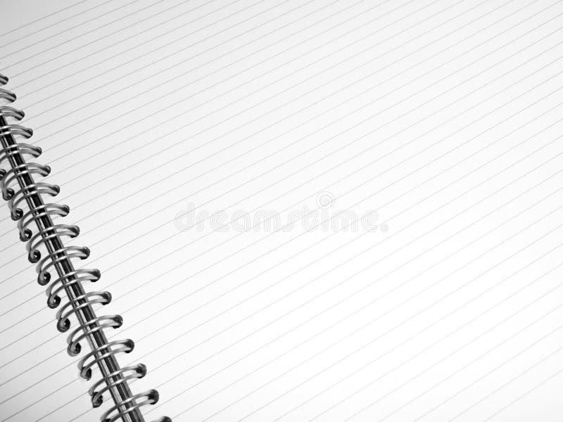 Download Notepad prążkowany biel obraz stock. Obraz złożonej z blank - 13328293