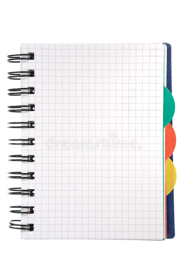 Notepad on white royalty free stock image