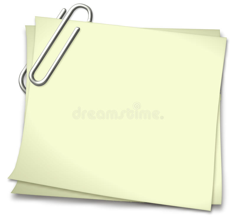 Download Notepad in Yellow stock vector. Illustration of paperclip - 9978370