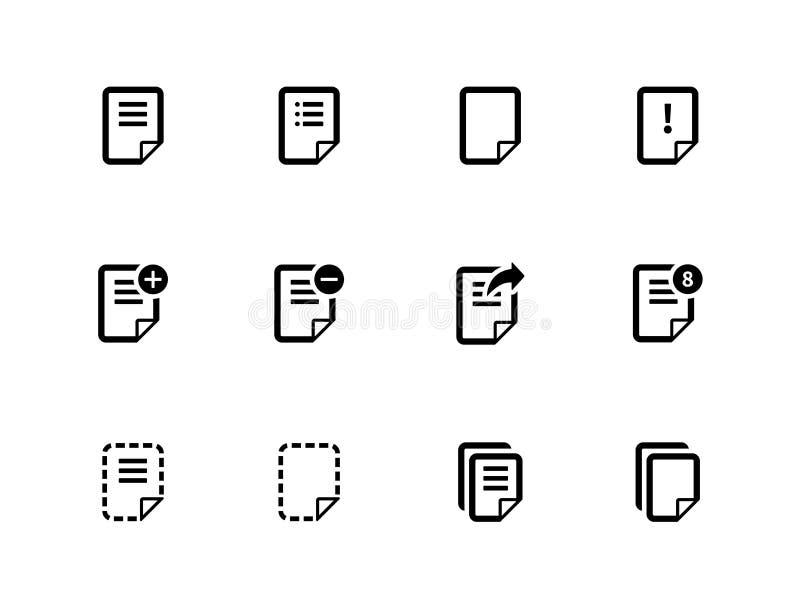 Notepaddokumentmapp och anmärkningssymboler. royaltyfri illustrationer
