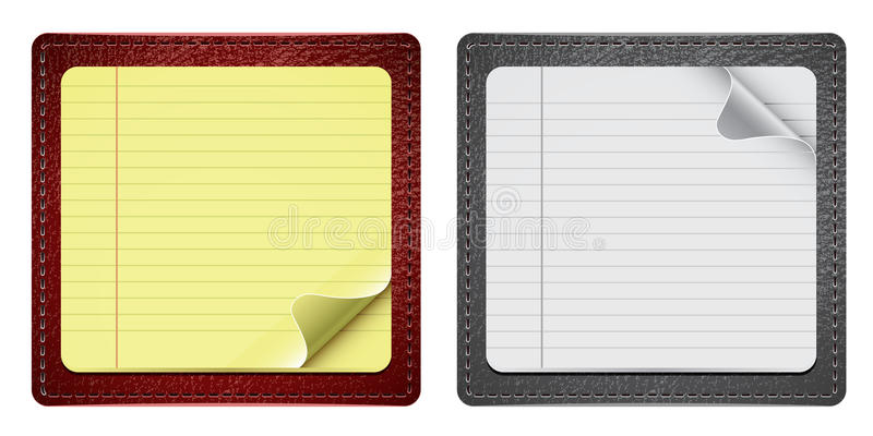 Download Notepads With Leather stock vector. Image of message - 21133031