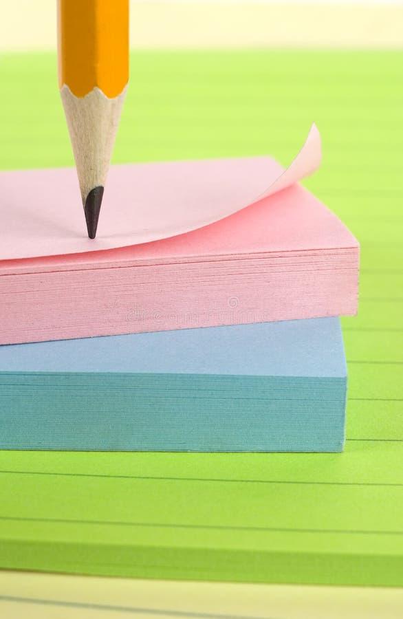 notepads ołówek zdjęcie stock