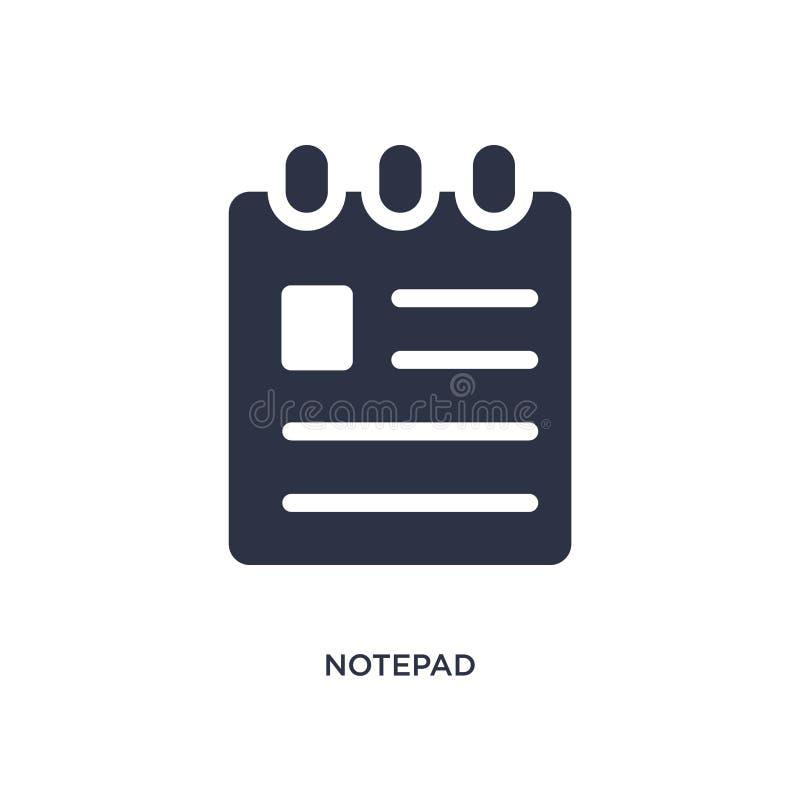 notepadsymbol på vit bakgrund Enkel beståndsdelillustration från medicinskt begrepp royaltyfri illustrationer