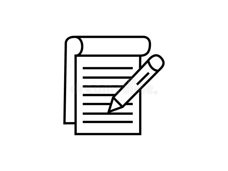Notepadsymbolvektor vektor illustrationer