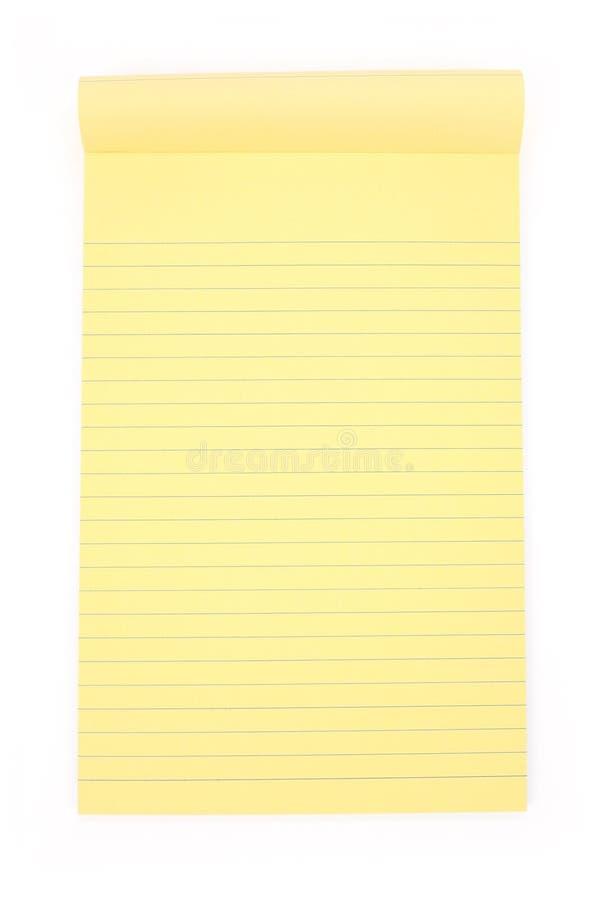 notepaper żółty zdjęcia royalty free