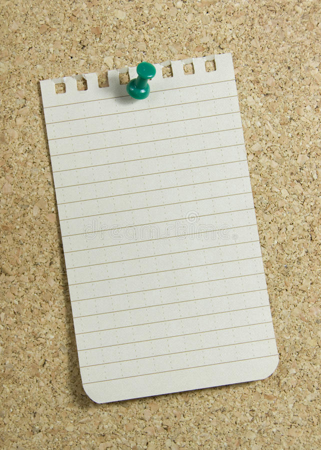 Download Notepaper on corkboard stock photo. Image of piece, notepad - 19187650