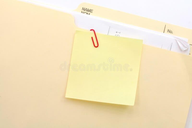 Download Notepaper and file folder stock image. Image of message - 1708177