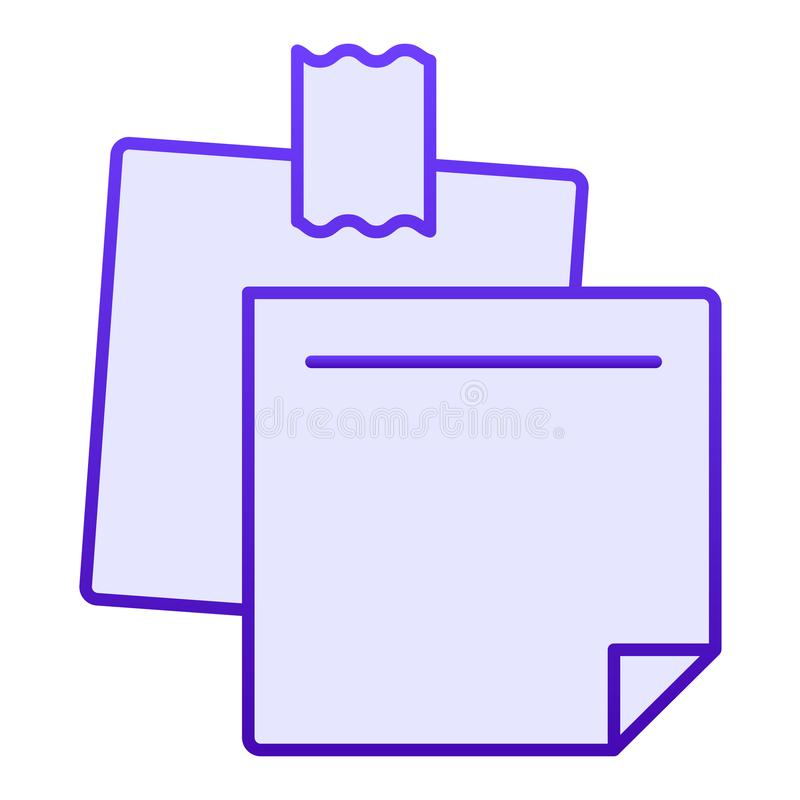 Notepaper flat icon. Sticky notes blue icons in trendy flat style. Paper stickers gradient style design, designed for. Web and app. Eps 10 vector illustration