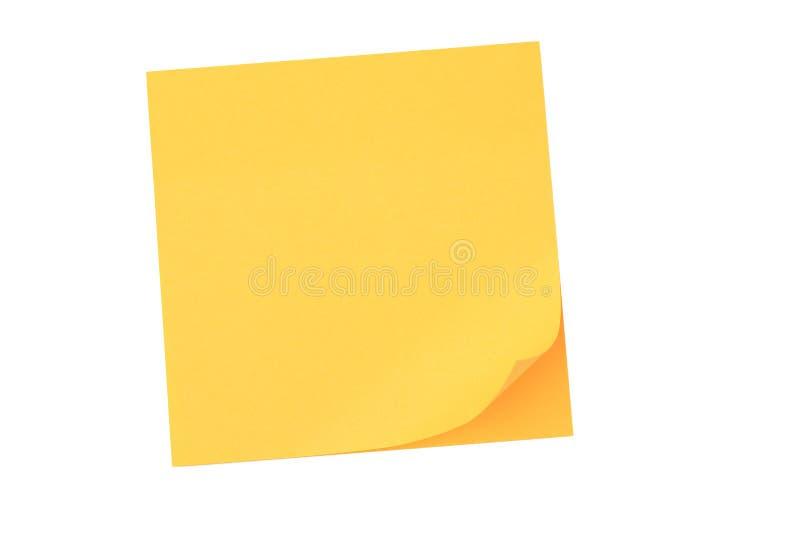 notepaper kolor żółty zdjęcie stock