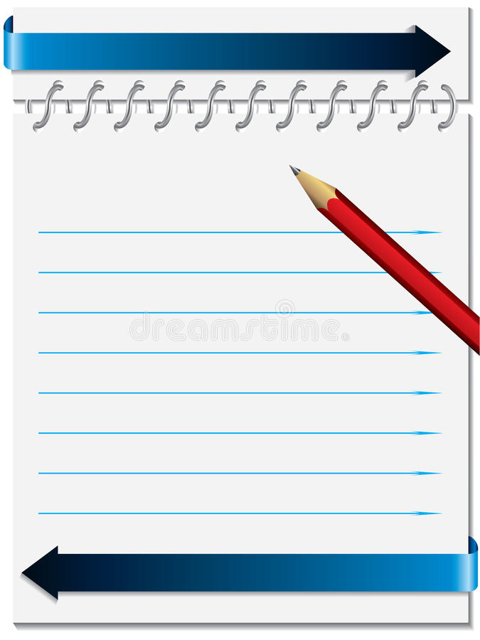 Notepaper with metallic ring