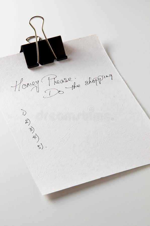 Download Notepaper For Shopping List Stock Image - Image: 22274203