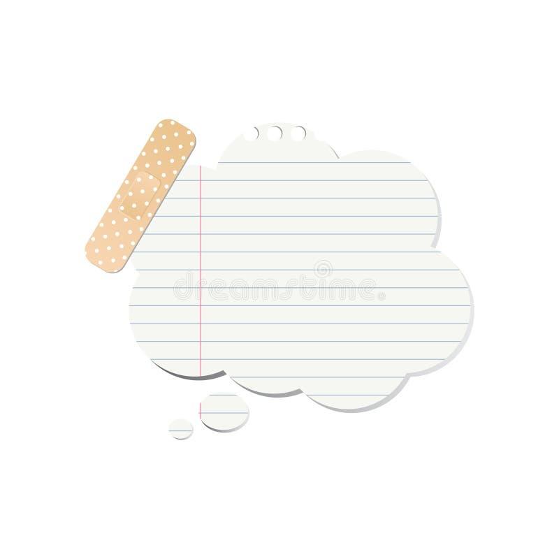 Notepaper speech bubble stock illustration