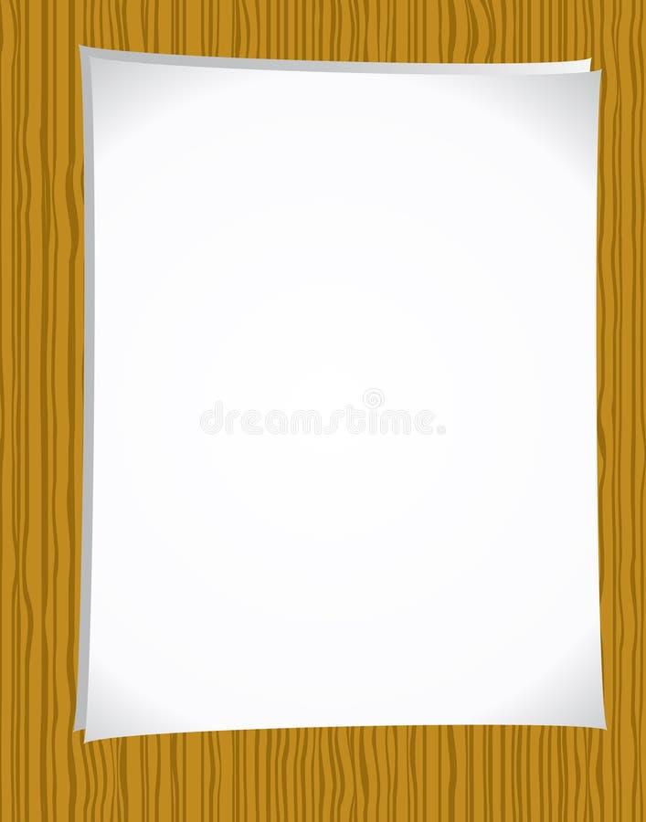 Notepaper on wood royalty free illustration