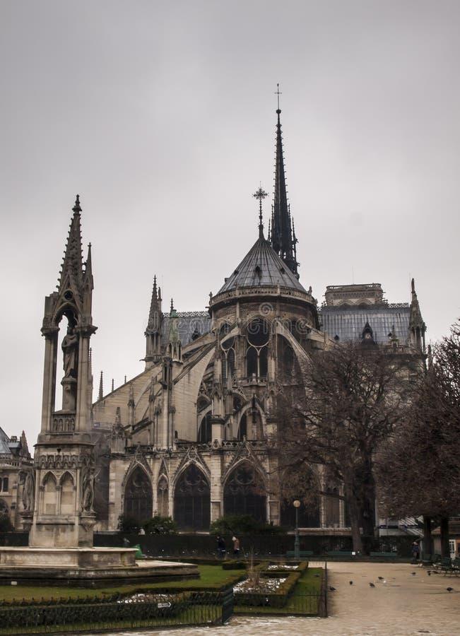 Noter Dame Cathedral à Paris images libres de droits
