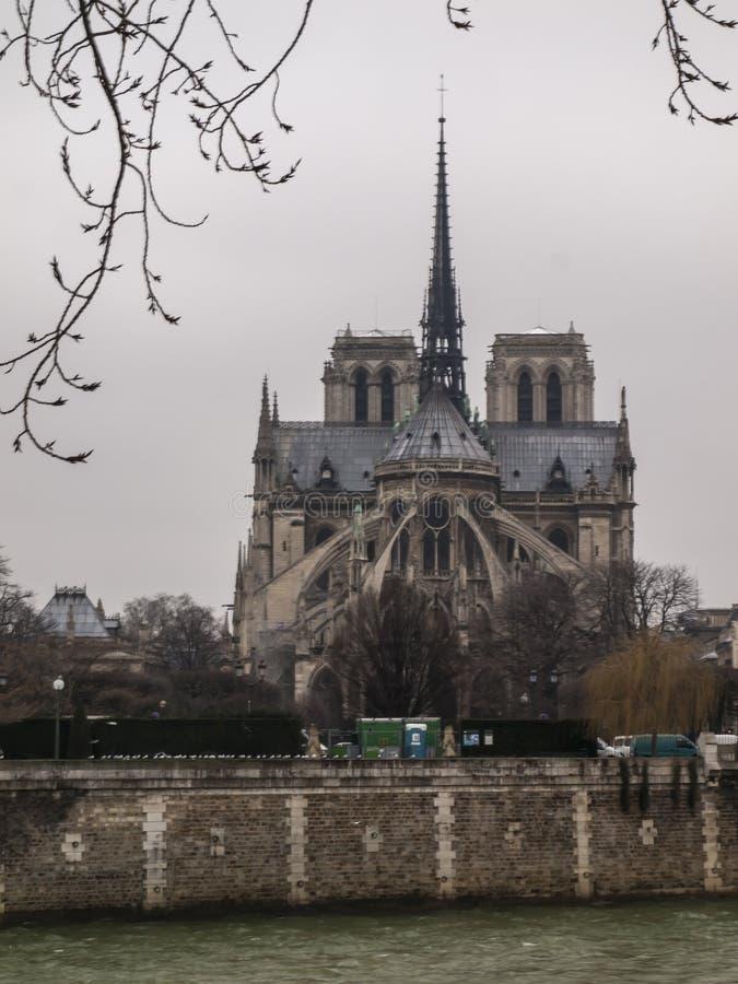 Noter Dame Cathedral à Paris photographie stock libre de droits