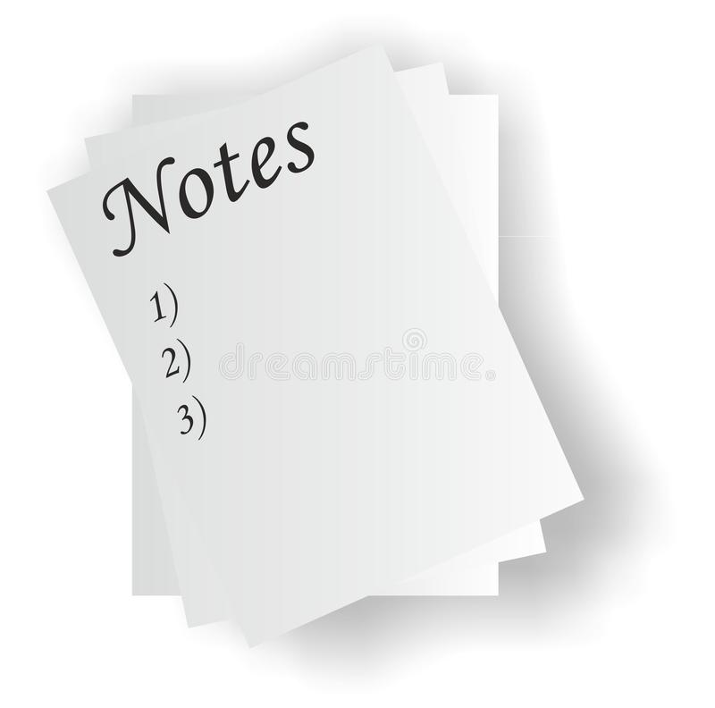 Notes images stock