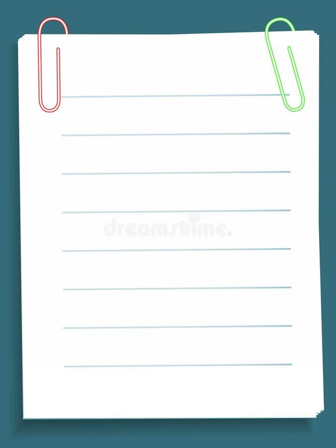 notes illustration de vecteur